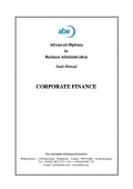 Abe Advanced Diploma in Business Administration Study Manual : Corporate Finance