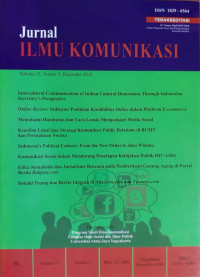 Image of Jurnal Ilmu Komunikasi Vol.15 No.2